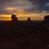 Sunrise in Monument Valley :